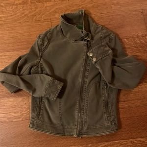 Anthropologie - Olive green Moto Jacket Size small